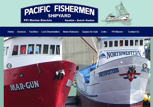 Pacific Fishermen Shipyard Website